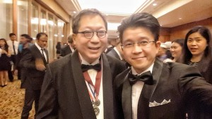 Artus Ong with Dato' Dr Ken Yeang during PAM Awards & Annual Dinner 2016