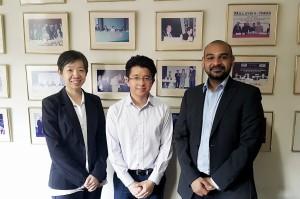Artus Ong with Prabhu Menon Katherine Ooi InvestHK