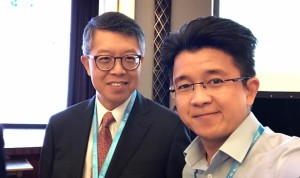 Artus Ong with Stephen Ng Chairman & Managing Director The Wharf (Holdings) Limited