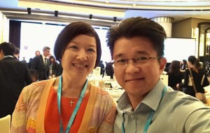 Artus Ong with Christine Lam - Asia Pacific Regional Director, Reed MIDEM