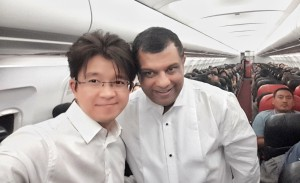 Tony Fernandes from Air Asia with Artus Ong